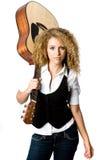 Muchacha de la guitarra Fotos de archivo libres de regalías