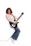Muchacha de la guitarra imagen de archivo libre de regalías