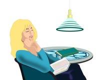 Muchacha de la lectura libre illustration