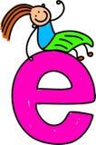 Muchacha de la letra E Fotografía de archivo libre de regalías