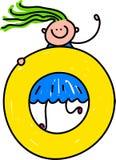 Muchacha de la letra O libre illustration