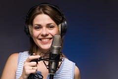 Muchacha de la música Foto de archivo libre de regalías