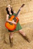 Muchacha de la música country Imagenes de archivo