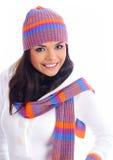 Muchacha de la manera del invierno Foto de archivo libre de regalías