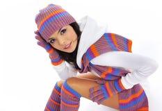 Muchacha de la manera del invierno Imagen de archivo libre de regalías