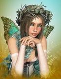 Muchacha de la mariposa Fotos de archivo libres de regalías