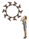 Muchacha de la mariposa fotografía de archivo