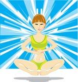 Muchacha de la meditación Fotografía de archivo
