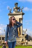 Muchacha de la moda de Barcelona Imágenes de archivo libres de regalías