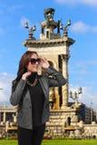 Muchacha de la moda de Barcelona Foto de archivo libre de regalías