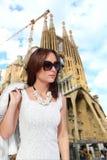Muchacha de la moda de Barcelona Fotos de archivo libres de regalías