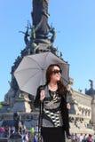 Muchacha de la moda de Barcelona Fotos de archivo