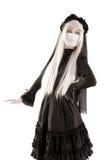 Muchacha de la muñeca de la viuda Fotos de archivo libres de regalías