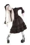 Muchacha de la muñeca de la viuda Imagen de archivo