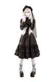 Muchacha de la muñeca de la viuda Imagen de archivo libre de regalías