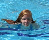 Muchacha de la natación Imágenes de archivo libres de regalías