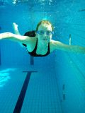 Muchacha de la natación foto de archivo