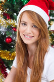 Muchacha de la Navidad fotografía de archivo libre de regalías