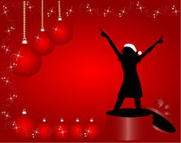 Muchacha de la Navidad stock de ilustración