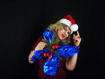 Muchacha de la Navidad imágenes de archivo libres de regalías