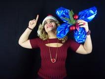 Muchacha de la Navidad Fotografía de archivo
