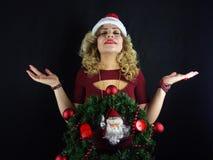 Muchacha de la Navidad fotos de archivo libres de regalías
