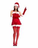 Muchacha de la Navidad del ayudante de Papá Noel. Fotografía de archivo