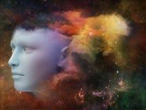 Muchacha de la nebulosa stock de ilustración