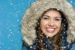 Muchacha de la nieve Fotos de archivo