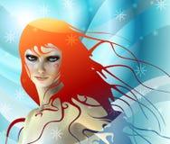 Muchacha de la nieve stock de ilustración
