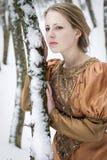 Muchacha de la nieve Fotografía de archivo
