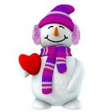 muchacha de la nieve 3d Fotografía de archivo libre de regalías