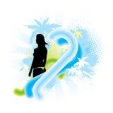 Muchacha de la persona que practica surf Imagen de archivo libre de regalías
