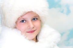 Muchacha de la piel del invierno fotografía de archivo