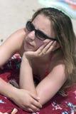 Muchacha de la playa Fotos de archivo libres de regalías