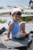 Muchacha de la playa Imagen de archivo libre de regalías