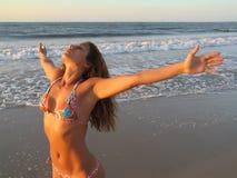 Muchacha de la playa fotografía de archivo libre de regalías