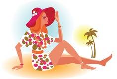 Muchacha de la playa Libre Illustration