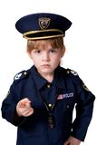 Muchacha de la policía de servicio Imágenes de archivo libres de regalías