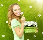 Muchacha de la primavera Fotos de archivo