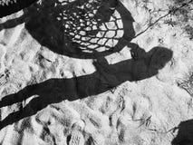 Muchacha de la sombra Foto de archivo libre de regalías