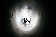 Muchacha de la sombra Imagen de archivo libre de regalías