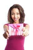 Muchacha de la tarjeta del día de San Valentín imagen de archivo libre de regalías