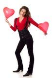 Muchacha de la tarjeta del día de San Valentín Imagenes de archivo