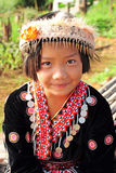 Muchacha de la tribu de la colina Imagen de archivo libre de regalías