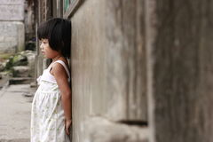 Muchacha de la tribu de Mangyan Fotografía de archivo libre de regalías
