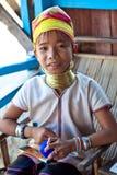 Muchacha de la tribu de Padaung, Myanmar Imagen de archivo