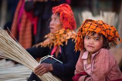 Muchacha de la tribu PA-o, Myanmar Fotografía de archivo