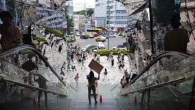 muchacha de la venta en la plaza Omotesando-Harajuku de Tokyu Fotos de archivo libres de regalías