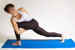 Muchacha de la yogui Imagenes de archivo
